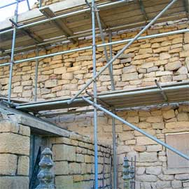 Preparation for Rubble Wall Repointing